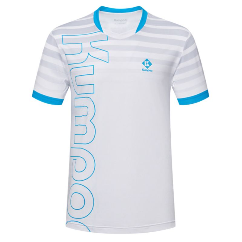 Футболка мужская Kumpoo KW-1102 (White/Blue)